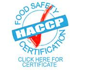 HACCP Food Safety Certification